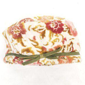 💮🌸Vintage Velour/Velvet Floral Hat 🌸💮